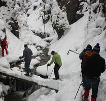 Snowshoeing in Janosik Gorge/Canyon